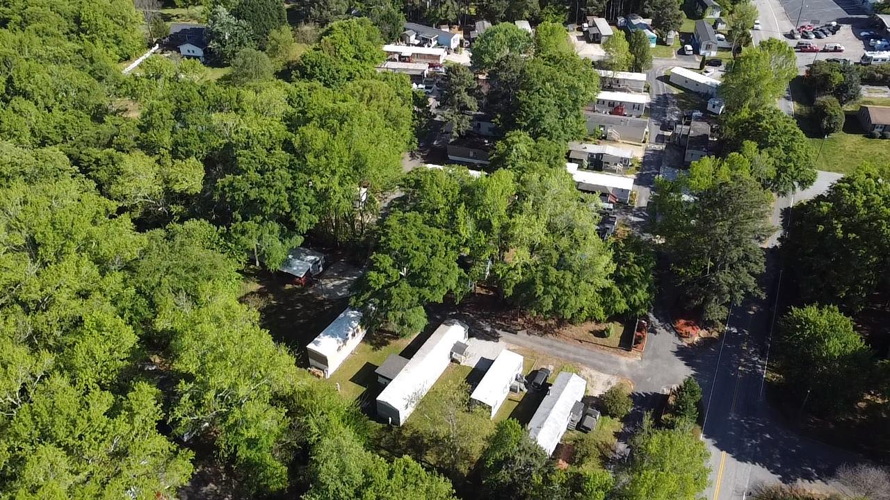 Mauldin Mobile Home Park drone shot